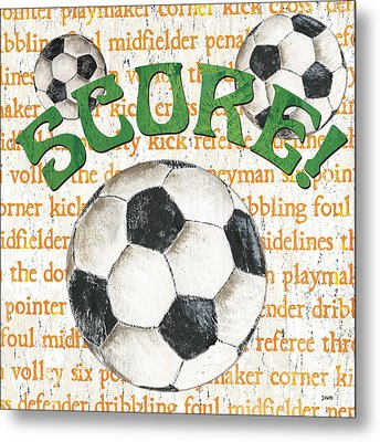 Sports Fan Soccer Metal Print by Debbie DeWitt