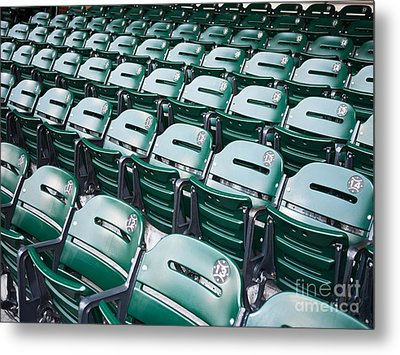 Sports Stadium Seats Picture Metal Print by Paul Velgos