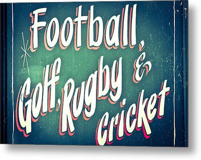 Sports Metal Print by Tom Gowanlock