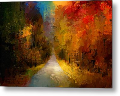 Spotlight On Autumn Metal Print