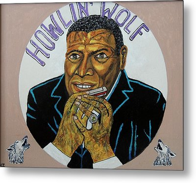 Metal Print featuring the painting Spotlight On The Wolfman. by Ken Zabel