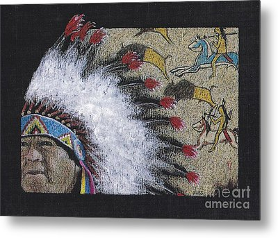 Spotted Eagle Metal Print