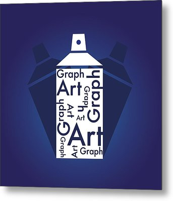 Graph Art Spray Can Metal Print by Sheila Mcdonald