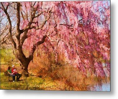 Spring - Sakura - A Beautiful Spring Day  Metal Print by Mike Savad
