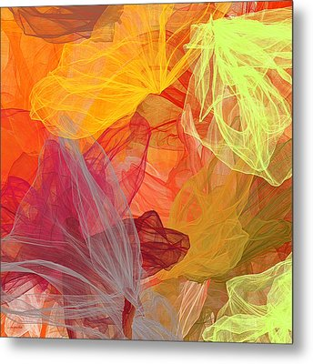 Spring Abundance - Spring Colors Abstract Art Metal Print by Lourry Legarde
