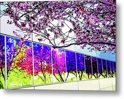 Spring Architectural Abstract Metal Print by Steve Ohlsen
