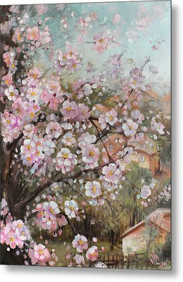 Spring At Country Side Metal Print