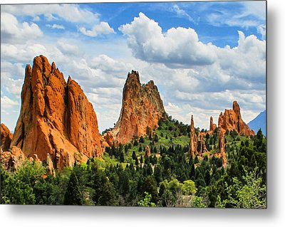 Spring At Garden Of The Gods Metal Print