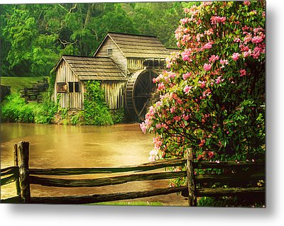 Spring At The Mill Metal Print by Darren Fisher