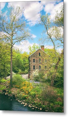 Spring At The Stone Mill  Metal Print by Jessica Jenney