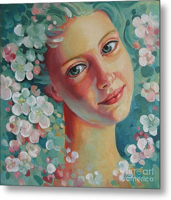 Metal Print featuring the painting Spring B by Elena Oleniuc