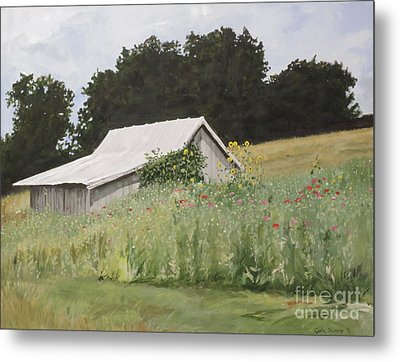 Enveloped By Wildflowers Metal Print by Carla Dabney