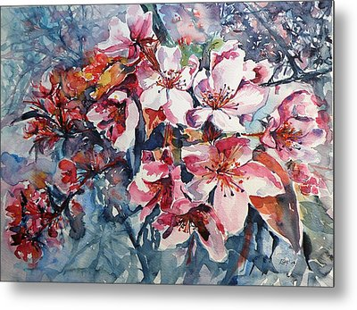 Metal Print featuring the painting Spring Beauty by Kovacs Anna Brigitta