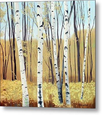 Spring Birches Metal Print