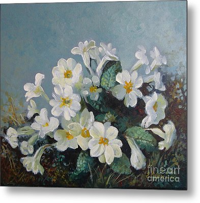 Metal Print featuring the painting Spring Blooms by Elena Oleniuc