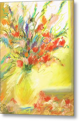Metal Print featuring the painting Spring Bouquet by Frances Marino