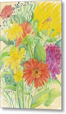 Metal Print featuring the painting Spring Bouquet  by Vicki  Housel