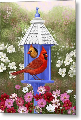 Spring Cardinals Metal Print by Crista Forest