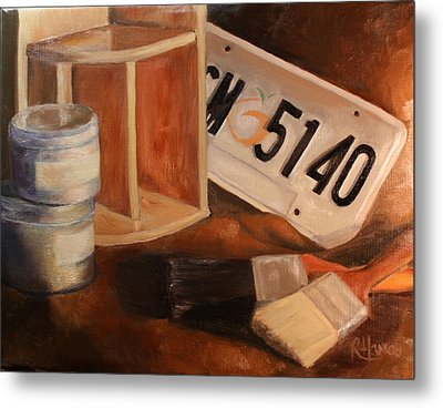 Metal Print featuring the painting Spring Cleaning by Rachel Hames