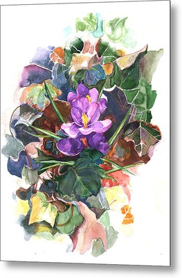 Spring Crocus Metal Print by Nancy Watson