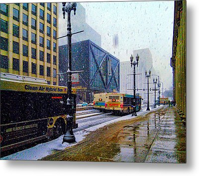 Spring Day In Chicago Metal Print