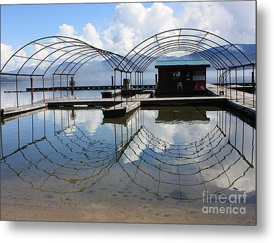 Spring Docks On Priest Lake Metal Print by Carol Groenen
