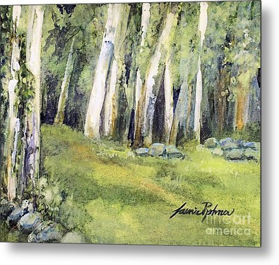 Metal Print featuring the painting Spring Field by Laurie Rohner