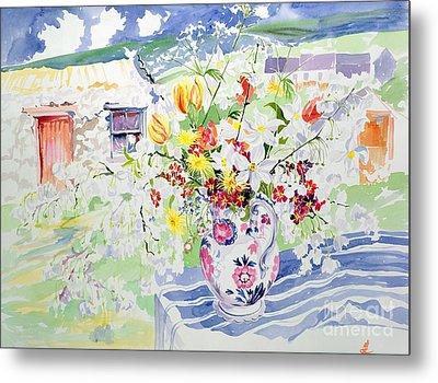 Spring Flowers On The Island Metal Print by Elizabeth Jane Lloyd