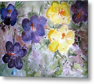 Spring Flowers Metal Print by Sandy McIntire