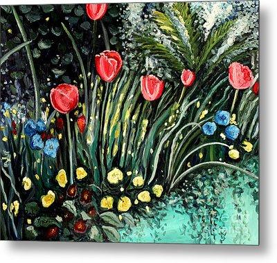 Spring Garden Metal Print by Elizabeth Robinette Tyndall