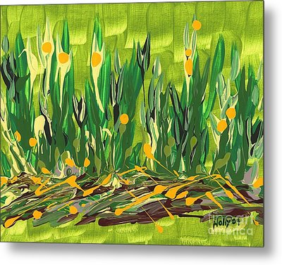 Metal Print featuring the painting Spring Garden by Holly Carmichael