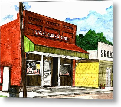 Spring General Store Sharpsburgh Iowa Metal Print by Kevin Callahan