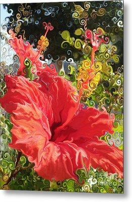 Spring Hibiscus Metal Print