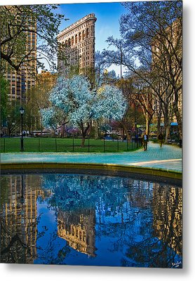 Spring In Madison Square Park Metal Print by Chris Lord