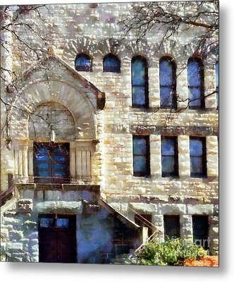 Metal Print featuring the painting Spring In Scranton by Janine Riley