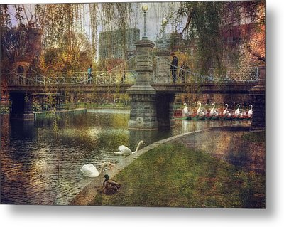 Spring In The Boston Public Garden Metal Print