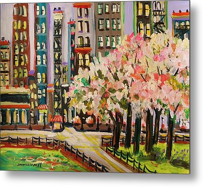 Spring In The City Metal Print by John Williams