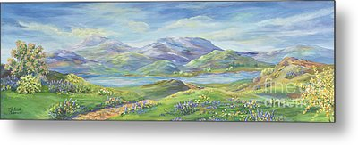 Spring In The Okanagan Valley Metal Print by Malanda Warner