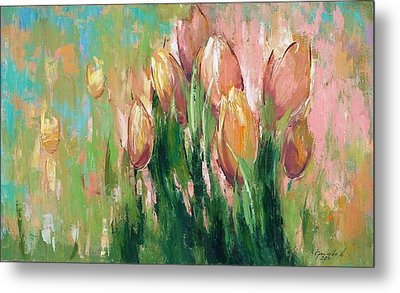 Metal Print featuring the painting Spring In Unison by Anastasija Kraineva