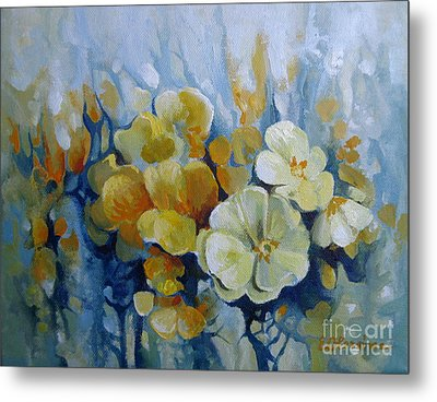 Metal Print featuring the painting Spring Inflorescence by Elena Oleniuc