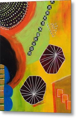 Squiggles And Wiggles #5 Metal Print by Suzzanna Frank