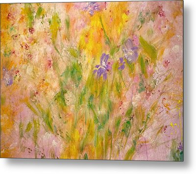 Spring Meadow Metal Print by Claire Bull
