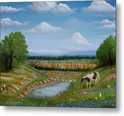 Metal Print featuring the painting Spring Morning by Gene Gregory