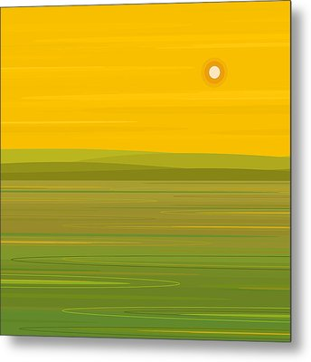 Metal Print featuring the digital art Spring Morning - Square by Val Arie