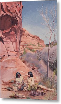 Spring On The Escalante Metal Print by Lester Nielsen