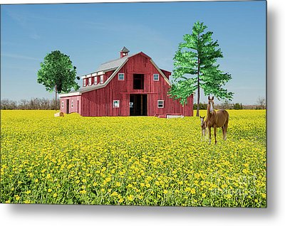 Metal Print featuring the photograph Spring On The Farm by Bonnie Barry