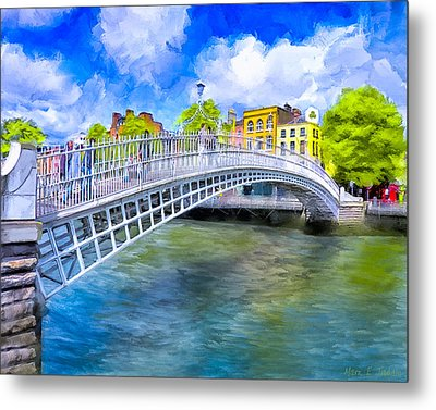 Spring On The Liffey - Historic Dublin Metal Print by Mark E Tisdale