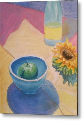 Metal Print featuring the painting Spring Picnic  by Carol Duarte