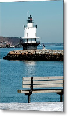 Spring Point Ledge Lighthouse Metal Print by Greg Fortier
