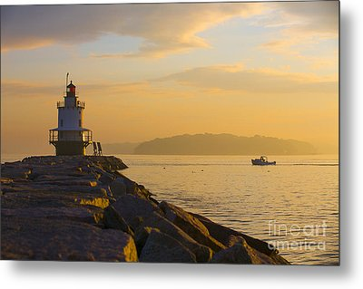 Spring Point Lighthouse At Dawn. Metal Print by Diane Diederich